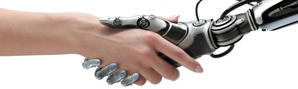 Human and Robot shaking hands